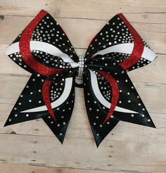 Custom cheer bow you pick colors cheer bow rhinestone cheer