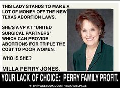 Rick Perry's sister.  From- https://www.facebook.com/photo.php?fbid=692949370720842=a.297095436972906.93385.174319502583834=1
