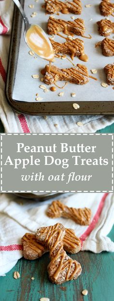 These Peanut Butter Apple Dog Treats are made with oat flour and free of most typical dog food allergens. With only 5 ingredients, this recipe is simple and reasonably adaptable for flour substitution as necessary. Your pup will love it!