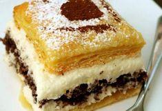 Jablonecké lístkové řezy | NejRecept.cz Oreo Cupcakes, Vanilla Cake, Tiramisu, Sweet Tooth, Cooking Recipes, Pudding, Treats, Ethnic Recipes, Desserts