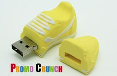Promo Crunch. Home to the World's Best Custom Designed USB Flash Drives - Shoes #usb #custom #marketing #branding #pvc #flashdrive #runners #yellow