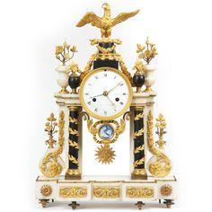 Rare French Louis XVI Gilt Bronze Antique Mantle Clock by Lepine c. Louis Xvi, Antique Mantle Clock, Antique Rare, Tic Toc, Bronze, Clocks, French, Antiques, Artwork