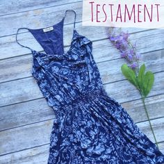 Testament Boutique Spaghetti Strap Sundress  ★ EUC, small pull on one strap.  ★ Super cute! Cute paisley pattern on a spaghetti strap sundress. Perfect for spring and summer. ☺️ Boutique brand. ★ NO TRADES!  ★ YES OFFERS! ✅ ★ Measurements available by request.  Testament Dresses Midi