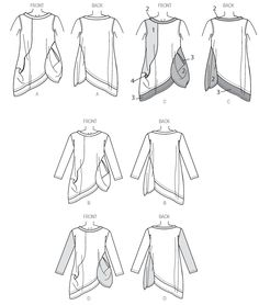 My ongoing search to build a handmade wardrobe that I will wear regularly (not just quarterly when I break out the iron to press my cotton dresses) led me to Butterick a Katherine Tilton pattern Tunic Sewing Patterns, Clothing Patterns, Top Pattern, Pattern Design, Pattern Ideas, Patron Butterick, Sew In Weave, Minerva Crafts, Contrast Collar