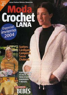 "Photo from album ""Ideal crochet"" on Yandex. Knitting Magazine, Crochet Magazine, Moda Crochet, Knit Crochet, Baby Patterns, Crochet Books, Journal, Loom Knitting, Winter"