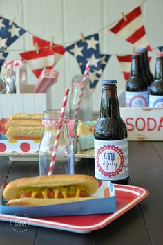 Cute and easy red, white and blue decor!