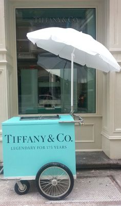 Tiffany & Co ice cream cart