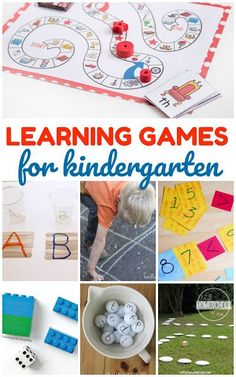 Kindergarten Games - over 35 fun, engaging learning games for Kindergarten age kids to practice sight words, alphabet letters, math, and more.