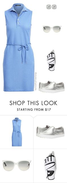 """Golf Day"" by stylebyshannonk ❤ liked on Polyvore featuring Ralph Lauren, Puma, Ray-Ban, TaylorMade, Frederic Sage, golf, golfdress and womensgolf"