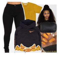 """-1"" by bankroll-bhaddie ❤ liked on Polyvore featuring Denman, NIKE and Menu"