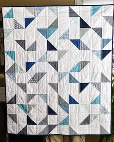 cloudy day baby quilt | Flickr - Photo Sharing!
