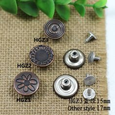 Click Our Letters Rivets Gallery to See More Style and Color . Jeans Button, Make Color, Shake, Cufflinks, Giant Tree, Stud Earrings, Buttons, Smoothie, Stud Earring
