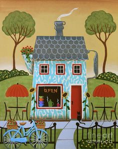 Java House Print by Mary Charles.  All prints are professionally printed, packaged, and shipped within 3 - 4 business days. Choose from multiple sizes and hundreds of frame and mat options.