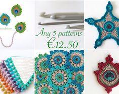 5 patrones de ganchillo para Euro 12.50-crear su propia selección de ahorro de 3,50 euros y no pagar IVA