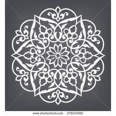 Find Circular Pattern Mandala Round Vector Ornament stock images in HD and millions of other royalty-free stock photos, illustrations and vectors in the Shutterstock collection. Stencil Patterns, Stencil Designs, Pattern Art, Embroidery Patterns, Pattern Design, Mandala Pattern, Stencils, Stencil Art, Damask Stencil