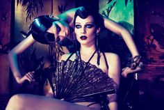 Models: Querelle Jansen, Tao Okamoto.  Stylist: Karl Templer  Photographer: Mert Alas & Marcus Piggott
