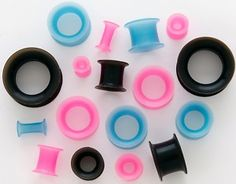 blue ones silicone gauge plugs