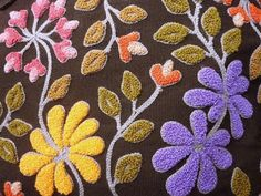 Résultat d'images pour Free Punch Needle Embroidery Patterns Hand Embroidery Designs, Embroidery Patterns, Hook Punch, Punch Needle Patterns, Latch Hook Rugs, Rug Hooking Patterns, Craft Punches, Felting Tutorials, Motif Floral