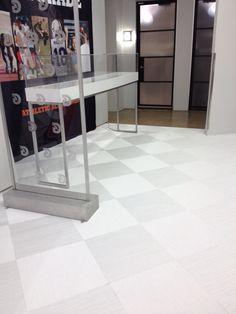 Chroma white, woven vinyl flooring at Pepsi headquarters