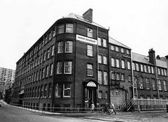 Sheffield City Council Housing Department Offices occupying former premises of Joseph Rogers and Sons Ltd., River Lane Works at the junction of Sheaf Street (left) and Pond Hill