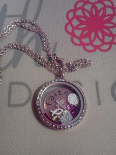This is gorgeous! Fill a locket with charms of things you love. Faith Symbol, Owl Charms, Piece Of Me, My Heart, Birthstones, Bracelet Watch, Bling, Charmed, Cool Stuff