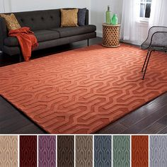 Hand Loomed Drome Solid Tone-On-Tone Geometric Wool Area Rug (8' x 11') I like the pattern, but what color?