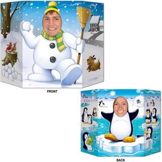 Buy Winter Photo Prop Enjoy the snow and make a snowman or pretend you are an adorable penguin! If you are throwing a winter or Christmas party, this Winter Photo Prop is sure to be a hit. Great Christmas activity or decoration.