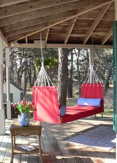 The Camden-The backless Camden Hammock Style swing provides excellent support at either end. Lean back and put your feet up.