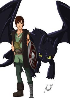toothless hiccup fanart HTTYD