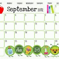 Free Monthly Calendar Printables... pdf but OH SO CUTE!