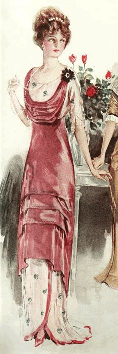 The couturier Paul Poiret was one of the first designers to translate this vogue into the fashion world 1910