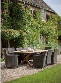 A stylish Reclaimed Teak table perfect for indoor and outdoor dining.