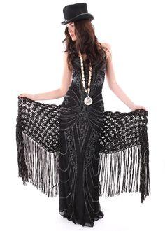 Bohemian Maxi Dress Saree black: LA PURPURA