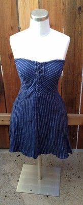 $20.95---Sz M Kimchi Blue strapless dress. Add a pair of white converse, a straw fedora, and you've got a new summer uniform!