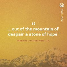 A stone of hope. #reasonstohope #bookofhope #rootanfdvine #mlk #martinlutherkingjr Luther, Language, Stone, Rock, Rocks, Language Arts, Stones