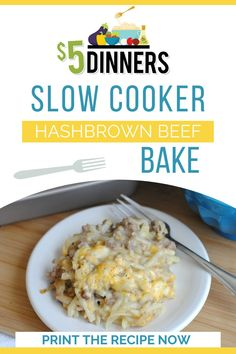 This slow cooker hashbrown beef bake is divine! It's an easy, budget friendly, and gluten free dinner recipe that the whole family will enjoy! #dinnerrecipe #hashbrownrecipe #glutenfree Best Slow Cooker, Slow Cooker Beef, Slow Cooker Recipes, Meat Recipes, Crockpot Recipes, Cooking Recipes, Slower Cooker, Crockpot Dishes, Oven Recipes