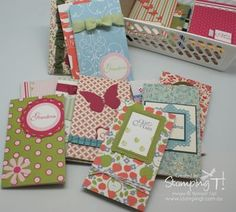 Tanya provides a video on how she covers notepads with dsp. Cute and quick project!