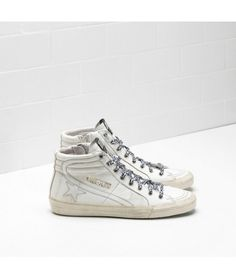 newest collection eada3 05358 Golden Goose Slide Sneakers In White Calf Leather With White Star Womens - Golden  Goose Outlet www.getggdb.com