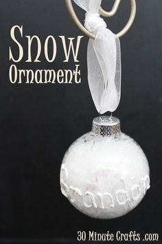 snow ornament at 30 Minute Crafts