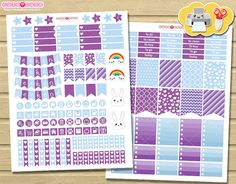 April Printable Planner Stickers Spring theme - planner and organizer for Erin condren boxes