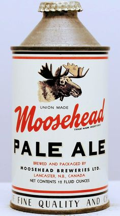 Moosehead Pale Ale , Lancaster NB Canada Beer Can Collection, Old Beer Cans, Retro Logos, Vintage Type, Best Beer, Vintage Advertisements, Craft Beer, Whisky, Brewery