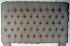DIY sengegavl, sengegavl med knapper, eksklusiv sengegavl