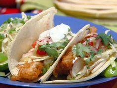 Get Beer and Chipotle-Battered Fish Tacos Recipe from Cooking Channel