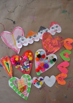 Love these kid made valentines using simple supplies for open-ended creativity