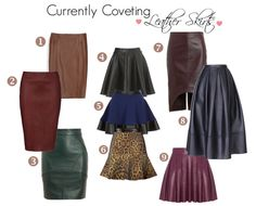 MariaOnPoint I Currently Coveting: Leather Skirts