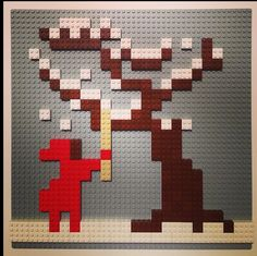 Better than etch a sketch! Create an illustration with legos. What a fun idea!