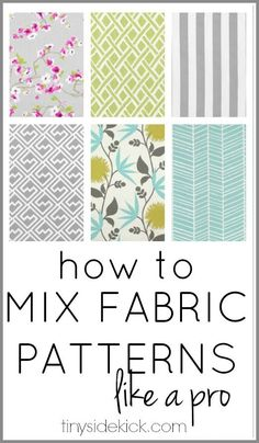 This post is the best description of how to choose fabrics for your home! I totally know what I'm doing now!