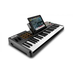 Akai SynthStation49 puts timeless creative control at your fingertips—it's the most advanced, intuitive music controller designed specifically for use with iPad. Fully certified to work with the original iPad, iPad 2, and iPad (3rd generation),