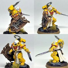 Imperial Fist Champion by Red Gobbo Warhammer 40k Blood Angels, Warhammer 40k Figures, Warhammer Paint, Warhammer Models, Warhammer 40k Miniatures, Warhammer 40000, Imperial Fist, Space Wolves, Game Workshop