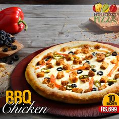 Spoil yourself a little with our BBQ Chicken flavor in 10 Incher Pizza! #14thStreetPizza #WackyWednesdays  Dial 111-36-36-36 or Visit http://www.14thstreetpizza.com